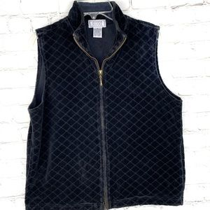 GUC-Vintg Jennifer Moore Full Zip Up Quilted Vest